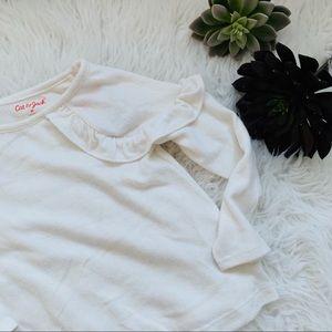 White Lightweight Toddler Sweater